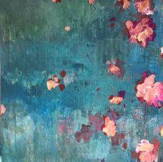 ...abstract art by sonja blaess... petit jardin...2017....