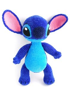 STITCH CROCHET PATTERN, Lilo and Stitch amigurumi toy pattern, Stuff Stitch doll tutorial, Disney Crochet pattern