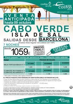 """Cabo Verde desde Barcelona.""""Oferta Venta Anticipada"""". Del 01 Octubre al 14 de Diciembre. ultimo minuto - http://zocotours.com/cabo-verde-desde-barcelona-oferta-venta-anticipada-del-01-octubre-al-14-de-diciembre-ultimo-minuto/"""
