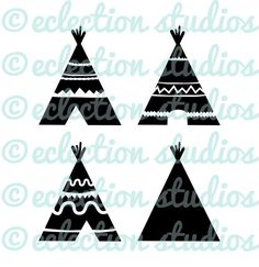 TeePee SVG, Indian, Aztec, TiPi, Native American, Tribe, Wild SVG, DXF, eps, jpg, png file for silhouette or cricut die cutting machine
