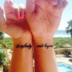 Couples Connecting Quote Wrist Tattoos