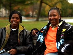 Terrain Dandridge (left) and Renata Hill (right) sit together.