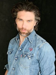 Anson Mount from Hell on Wheels- how one rocks a denim button-up