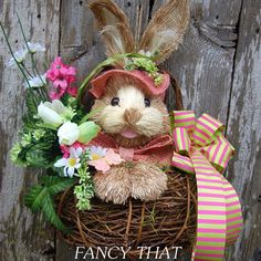 Easter Bunny Wall Basket