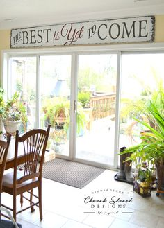 The Best Is Yet To Come Large Hand Painted by ChurchStDesigns