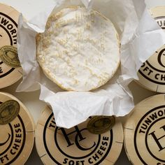 Tunworth pasteurised English brie-style cheese, from The Telegraphs Best Supplier of Mail Order Cheese and The Times 10 Best Cheese Shops: The Fine Cheese Co. Cheese Hampers, Cheese Fest, British Cheese, Stilton Cheese, Sheep Cheese, Christmas Cheese, Gluten Free Biscuits, Cheese Maker, How To Make Cheese