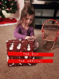 How to do an Elf On The Shelf scavenger hunt arrival And a great loophole for the DON'T TOUCH rule www.thebrighterwriter.blogspot.com