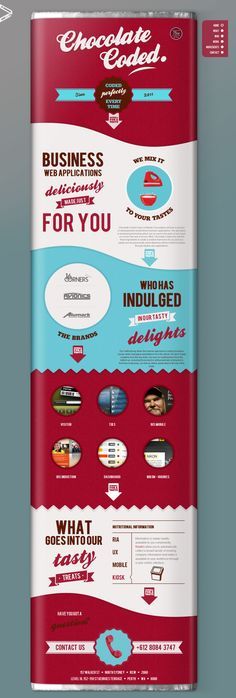 Unique Web Design, Chocolate Coded #webdesign #design (http://www.pinterest.com/aldenchong/)