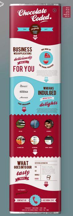 Cool Web Design, Chocolate Coded. #webdesign #webdevelopment [http://www.pinterest.com/alfredchong/]