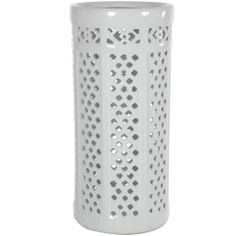 Dolomite 17-inch Carved Lattice Decorative Umbrella Stand (China) | Overstock.com Shopping - The Best Deals on Accent Pieces