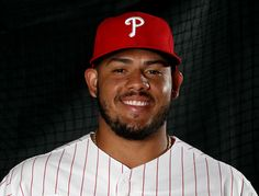 Jorge Alfaro #38 of the Philadelphia Phillies poses for a portrait during the Philadelphia Phillies photo day on February 20, 2017 at Spectrum Field in Clearwater, Florida.