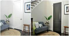 Dark gray interior door (before and after)