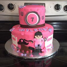 Horse back riding cake