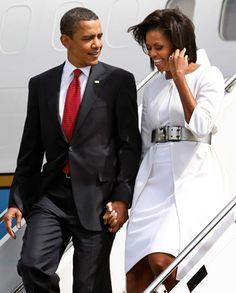 President Barack Obama With 1st Lady Michelle Obama....