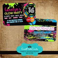 Glow Party Sweet 16 - Credit Card