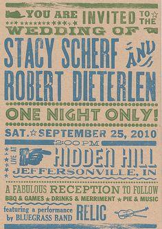 Our Cool Invites! by OliveLoaf Design, via Flickr