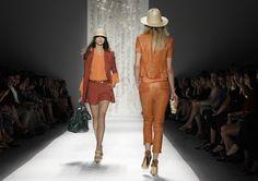 Rachel Zoe...orange leather.