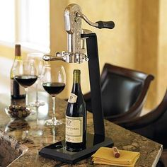 Granite Base Wine Opener $84 from Frontgate