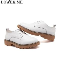 2017 spring women oxfords shoes genuine leather casual shoes women soft leather flats boat shoes moccasins white shoes #Affiliate Women Oxford Shoes, Shoes Women, Leather Flats, Soft Leather, Flats Boat, Casual Shoes, Women's Casual, White Shoes, Dress Shoes