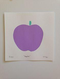 Purple apple by TWOANDJAX on Etsy, $45.00