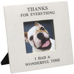 Thanks For Everything I Had A Wonderful Time - In Memory Of Pet Picture Frame by House Parts Time Pictures, Dog Pictures, Animal Pictures, Pet Memorial Frames, Dog Memorial, Memorial Ideas, Memorial Gifts, Loss Of Dog, Pet Loss