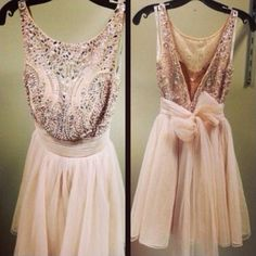 Luxury Beaded Sexy Short Prom Dresses Pink