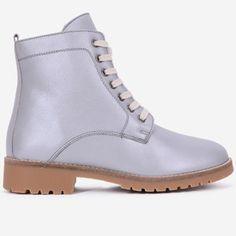 Ghete argintii din piele naturala Irfan Boots, Fashion, Crotch Boots, Moda, Fashion Styles, Shoe Boot, Fashion Illustrations