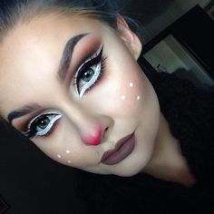 40 Christmas Makeup Ideas That Are In Trend - List of the most beautiful makeup New Year's Makeup, Fx Makeup, Beauty Makeup, Makeup Box, Hair Makeup, Christmas Makeup Look, Holiday Makeup Looks, Maquillage Halloween, Halloween Makeup