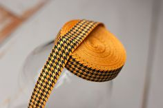 Houndstooth Elastic - Orange and Black Houndstooth FOE - 5 Yards on Etsy, $1.30