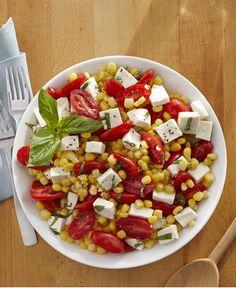 Fresh Corn, Tomato and Mozzarella Salad