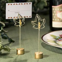 Fall Leaves Place Card Holders by Beau-coup...use these for food markers...