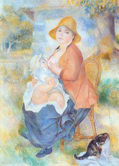 П.О. Ренуар. Материнство. 1886. Музей изящных искусств, Сент-Питерсберг (Флорида)