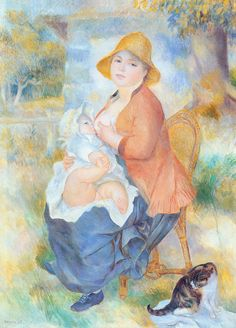 renoir mother nursing her child aline and pierre « Renoir Pierre Auguste « Artists more « Art might - just art Pierre Auguste Renoir, Kids Canvas Art, Artist Canvas, Oil On Canvas, August Renoir, Breastfeeding Art, Renoir Paintings, Cat Paintings, Kunsthistorisches Museum