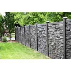 H x 6 ft. W EcoStone Dark Brown Composite Fence Panel at The Home Depot - Mobile sichtschutz SimTek 6 ft. H x 6 ft. W EcoStone Dark Brown Composite Fence Fence Landscaping, Backyard Fences, Fenced In Yard, Fenced In Backyard Ideas, Luxury Landscaping, Backyard Privacy, Pool Fence, Landscaping Company, Patio Ideas