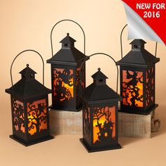 "The Jolly Christmas Shop - 11.2""H Wood Halloween Lantern with LED Candle 2270240, $21.24 (https://www.thejollychristmasshop.com/11-2h-wood-halloween-lantern-with-led-candle-2270240/)"