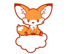 This little fox was made in Illustrator for a t-shirt design request.