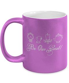 Beauty And The Beast Be Our Guest Coffee Cup Mug Belle Di S