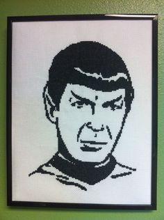 Spock Cross Stitch Pattern. $5.00, via Etsy.