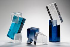 cast #glass #sculptures by artist Heike Brachlow