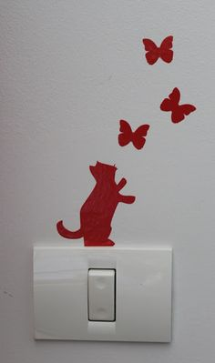 Two Left Hands: Switch light decal