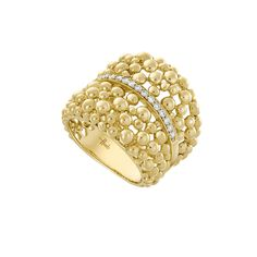 Hueb Bubbles Yellow Gold Diamond Ring