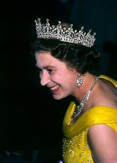So pretty she is her highness. Elizabeth Queen Of England, Elizabeth Philip, Queen Elizabeth Ii, Girls Tiara, Princess Kate Middleton, Hm The Queen, Isabel Ii, Queen Mother, British Monarchy