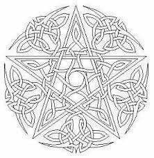 Pagan pentagram coloring page