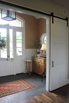 Sliding barn doors | My Sweet Savannah: a home tour in the countryside