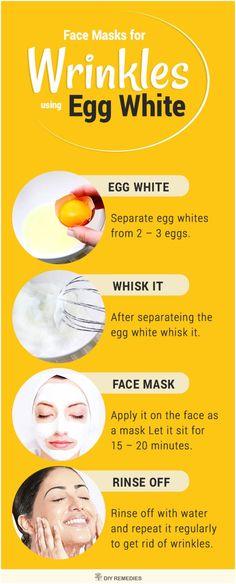 Egg White Face Masks for Wrinkles