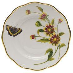Herend American Wildflowers Indian Blanket Flower Salad Plate