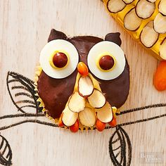 Adorable Owl cupcakes and more than 40 other ideas for cute Halloween food!