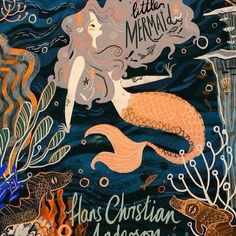 The little mermaid book cover  I read the book a few years back not quite the happy Disney film we thought #bookcovers #illustration #thelittlemermaid #portfolio #sea #hanschristianandersen
