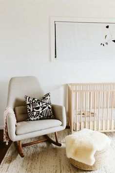 We've broken things down so you can plan your nursery with ease. Here are the key things you need to ponder when setting up your little one's space, along with inspiration and shopping suggestions. #hunkerhome #nurseryideas #nursery #nurseryinspiration #babynursery Vertical Storage, Nursery Furniture, Nursery Inspiration, Blue Accents, Hanging Wall Art, Pottery Barn Kids, Crate And Barrel, Minimalist Design, Storage Solutions