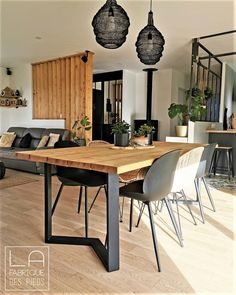 Diy Table, Wood Table, Dining Table, Dining Room Inspiration, Kitchenette, Living Room Designs, Diy Furniture, Sweet Home, New Homes